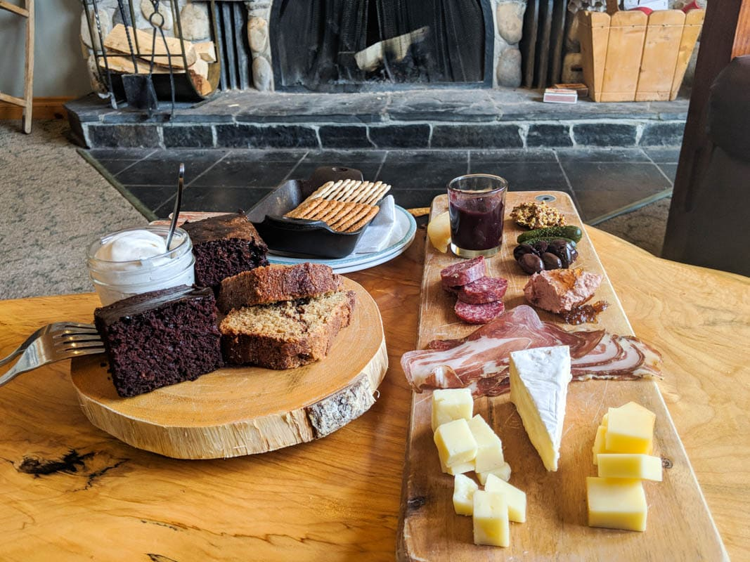 Charcuterie time at Mount Engadine Lodge