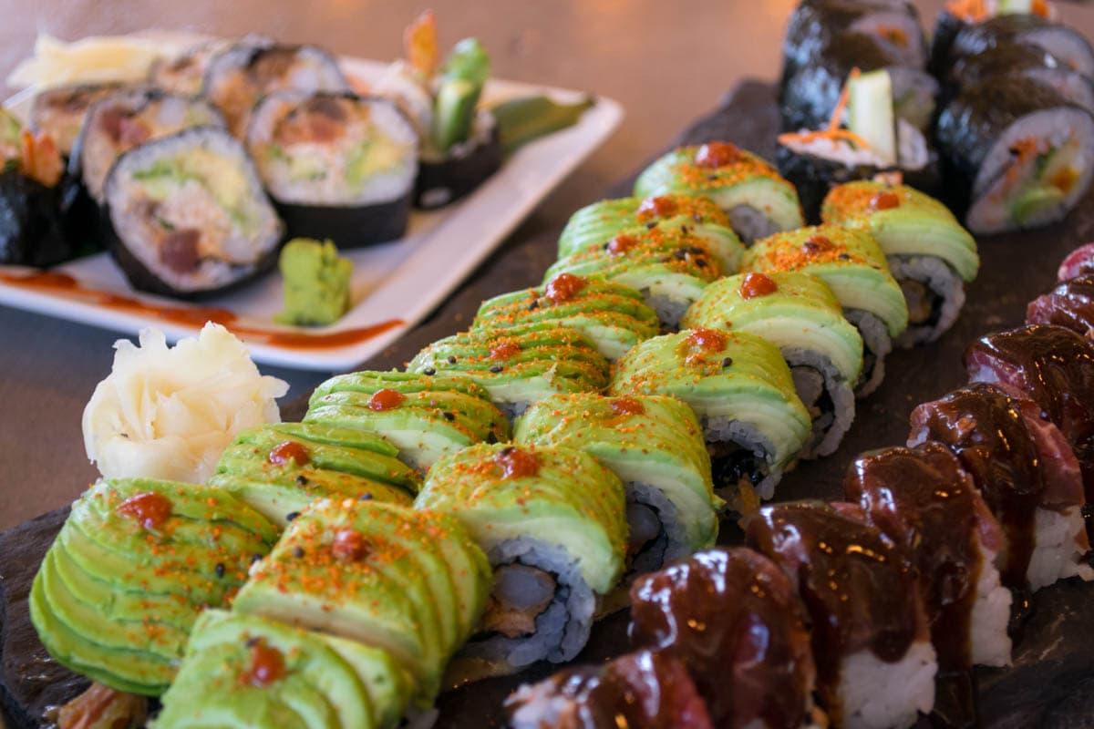 Sushi at Kuma Yama, Lake Louise Ski Resort