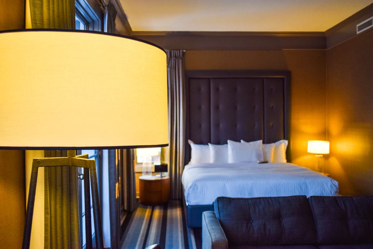 Our room at Kensington Riverside Inn, Calgary