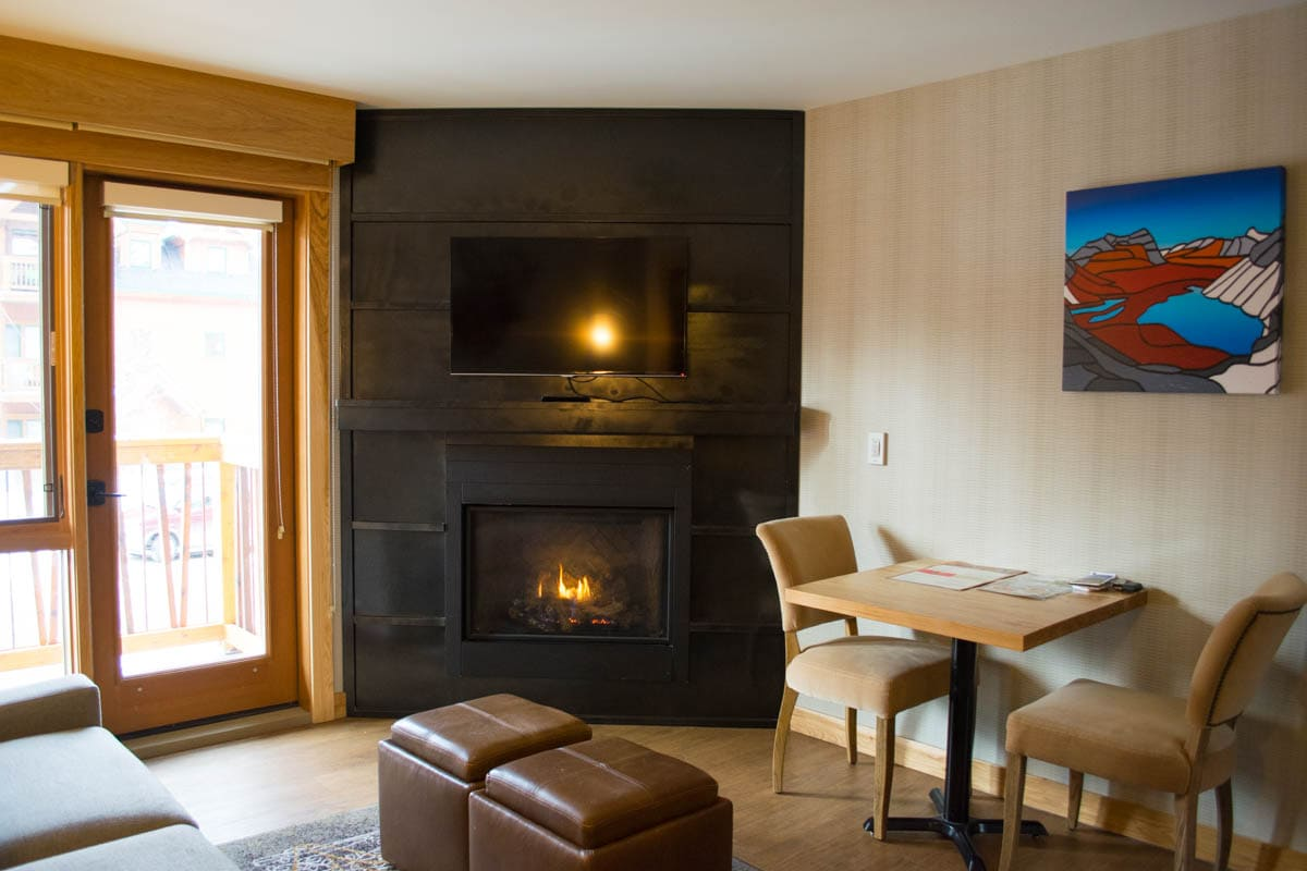 Our lounge area at Moose Hotel And Suites, Banff