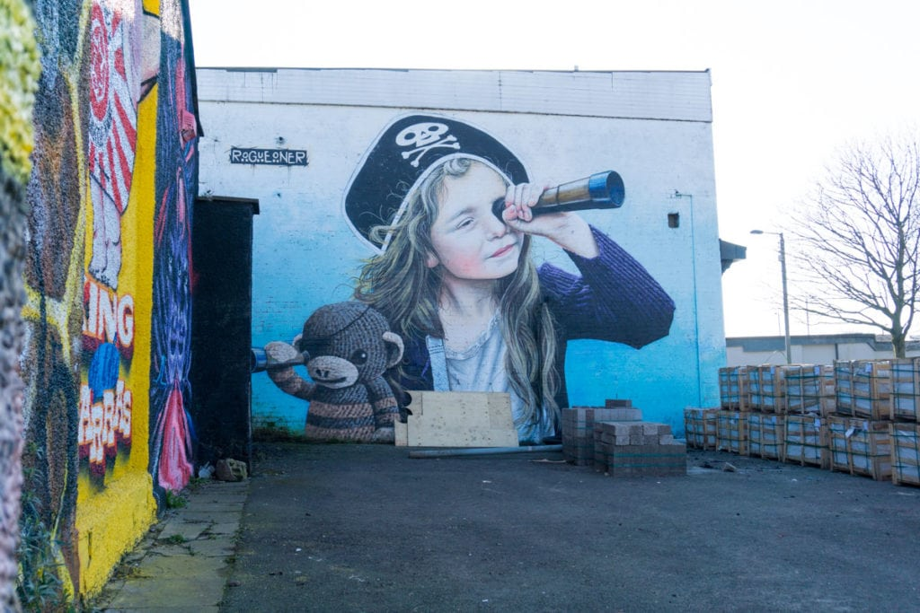 The Barras Pirate, one of Glasgow's murals