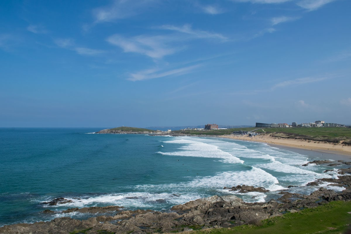 View of Fistral Beach from Fistral Beach Hotel, Newquay