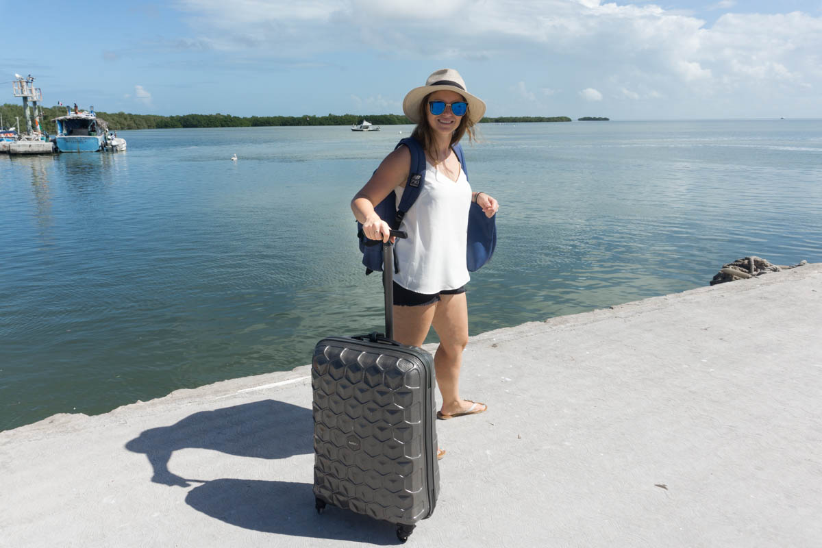 Arriving on Isla Holbox, Mexico