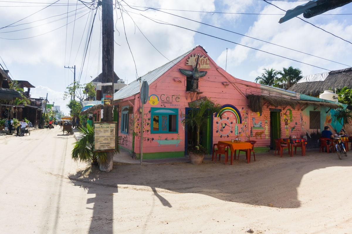 Colourful buildings on Isla Holbox