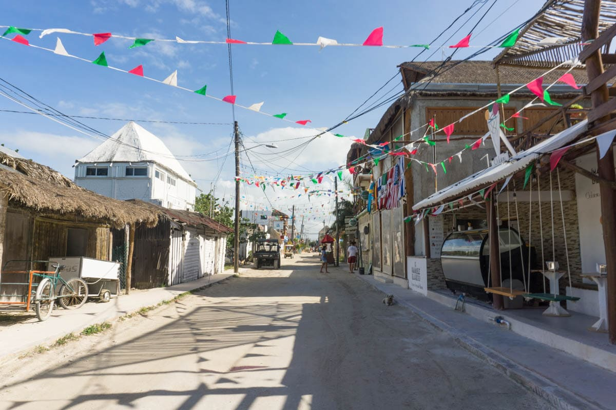 Sandy streets on Isla Holbox, Mexico