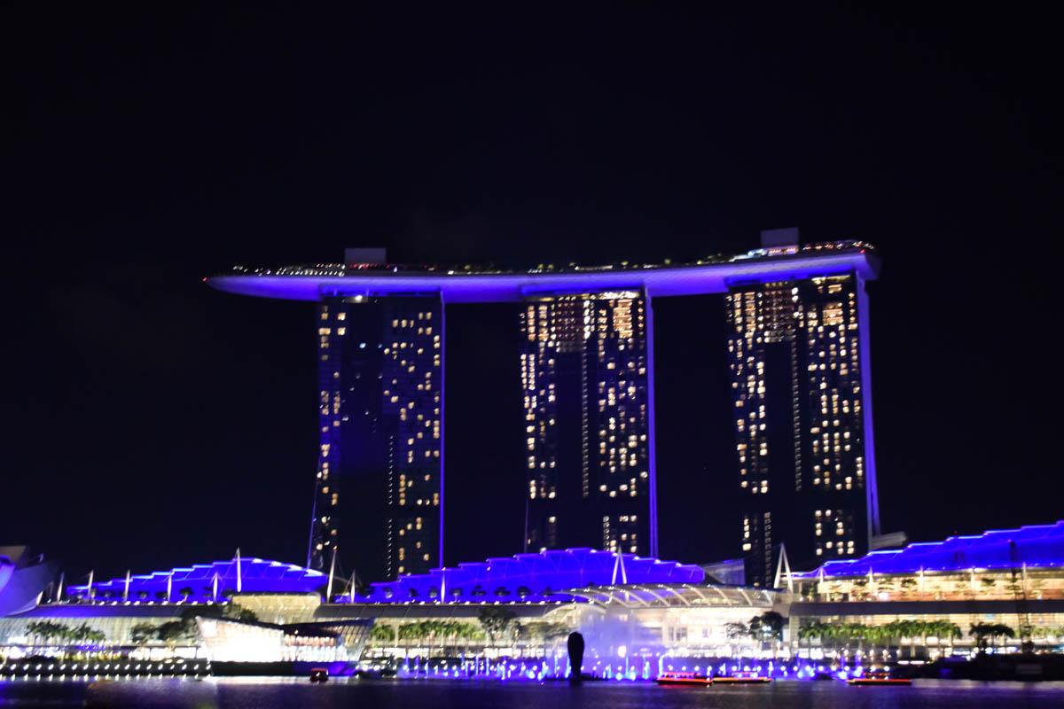 Marina Bay Sands at night, Singapore