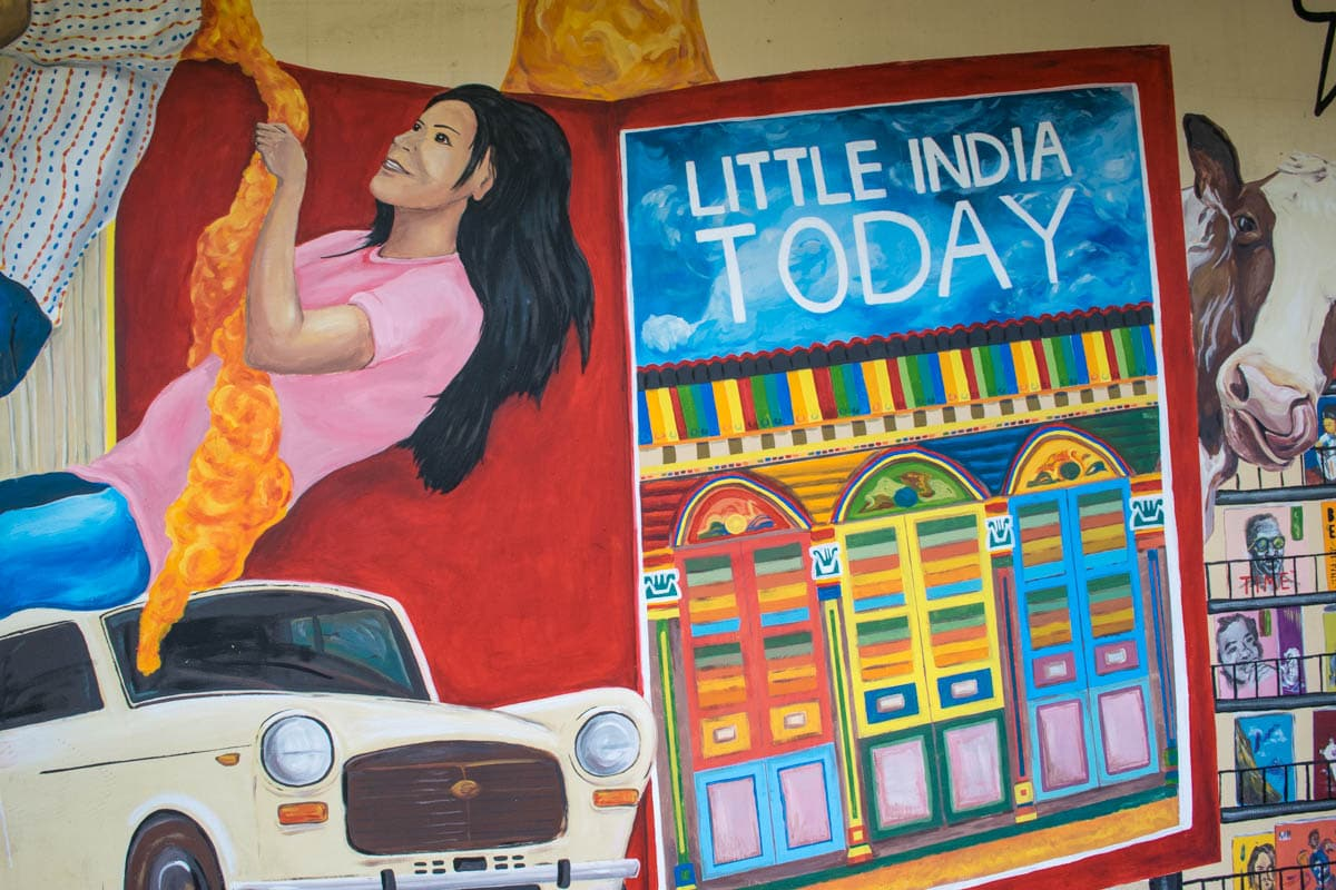 Street art in Little India, Singapore