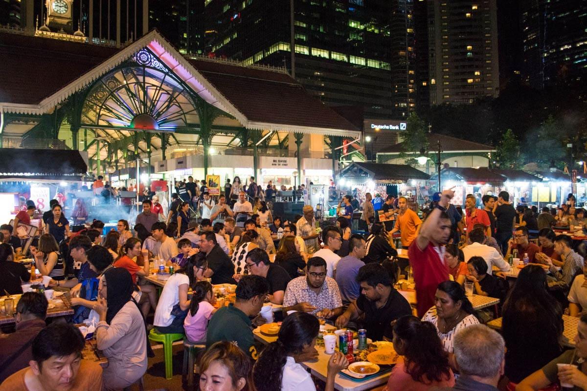 Satay Street, Singapore