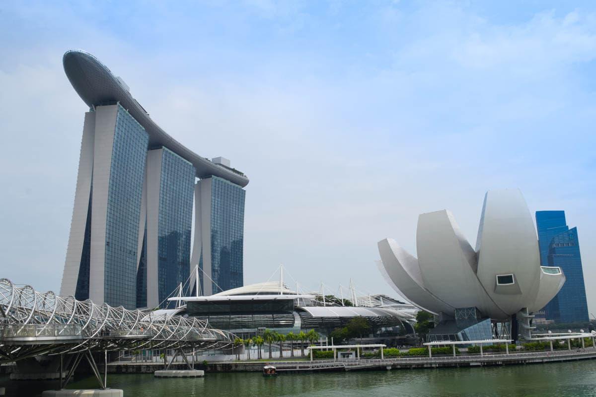 Marina Bay Sands et Art Science Museum, Singapour