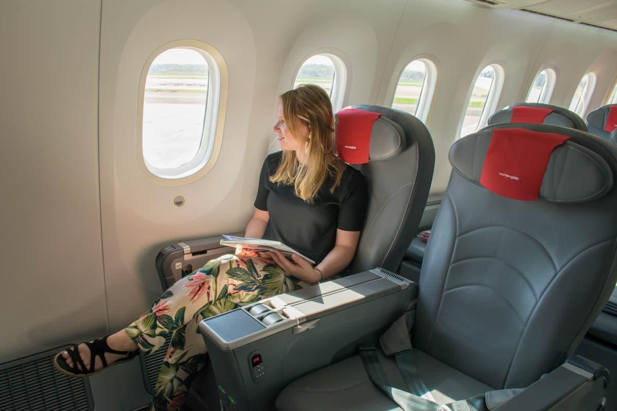 Comfy seats in Premium on Norwegian