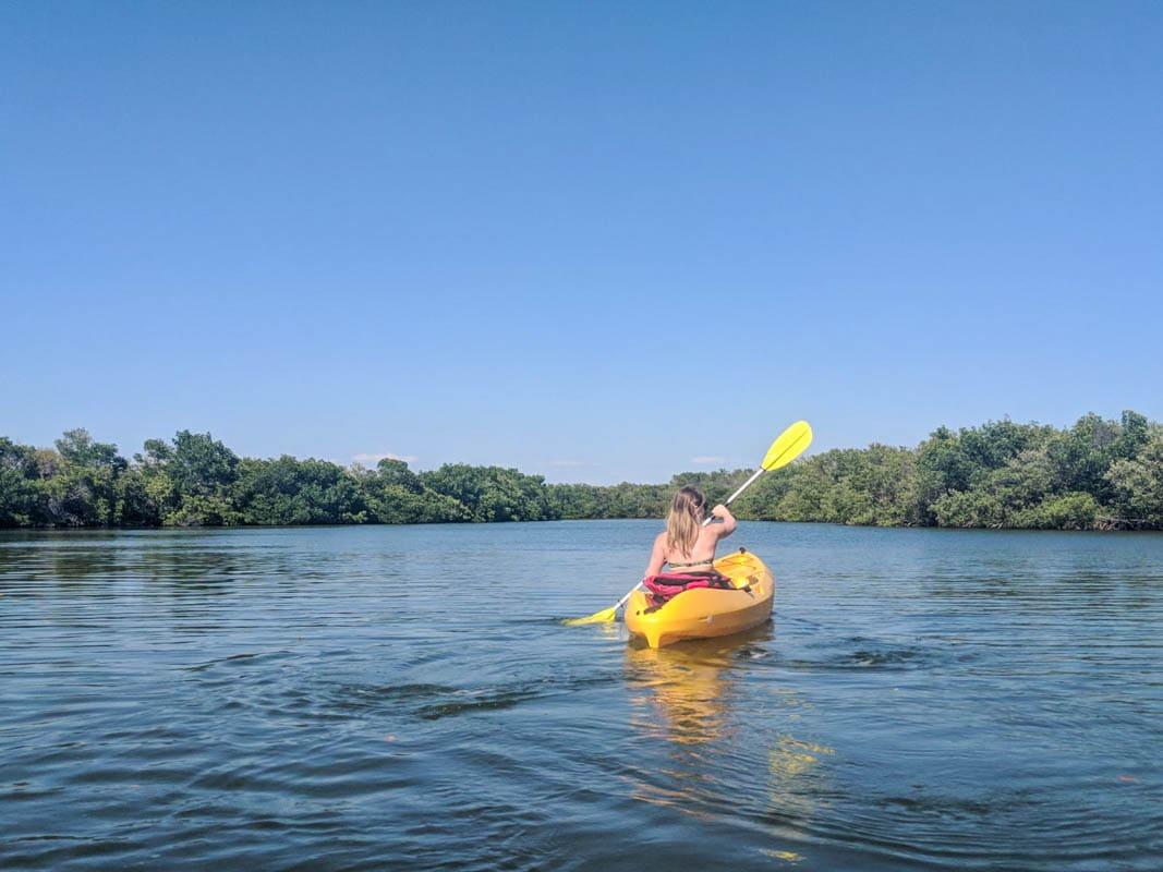 Kayaking in Fort De Soto, Florida