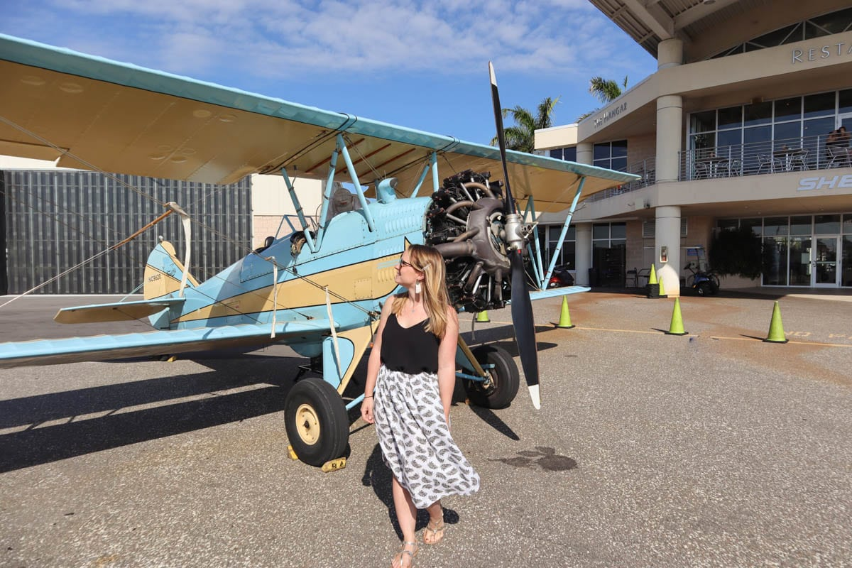 Biplane ride in St Petersburg, Florida