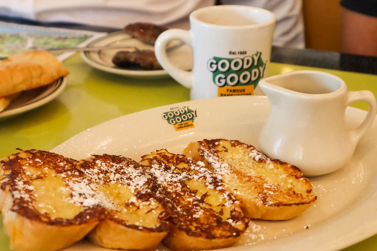 French toast at Goody Goody Burger, Tampa