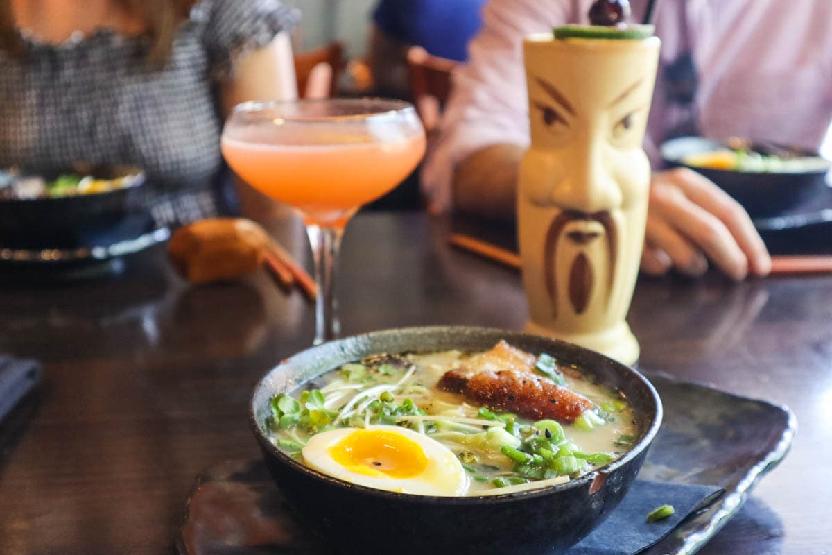 Ramen and cocktails at Buya, St Petersburg