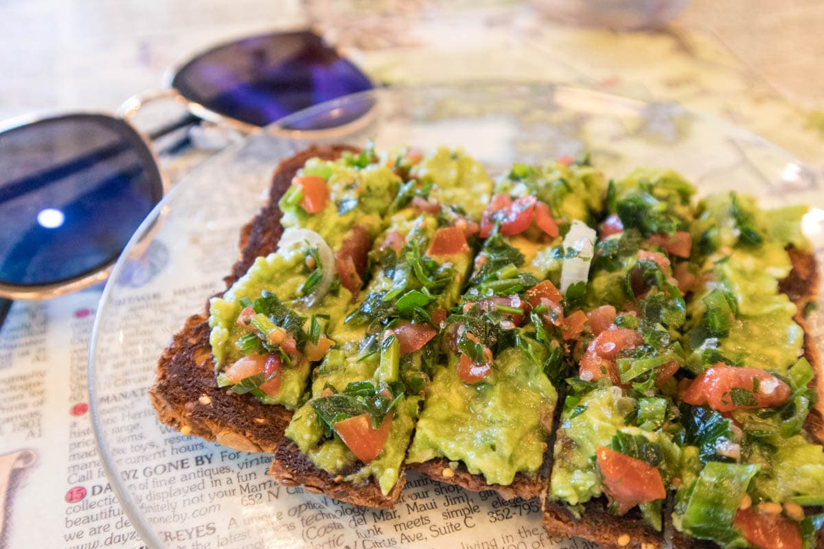 Avocado on on toast at Teahouse 650, Crystal River