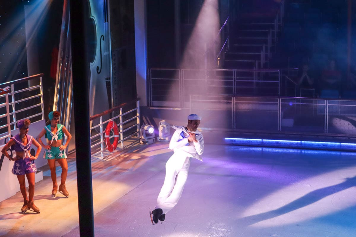 Strings Ice Show on board Royal Caribbean Independence Of The Seas