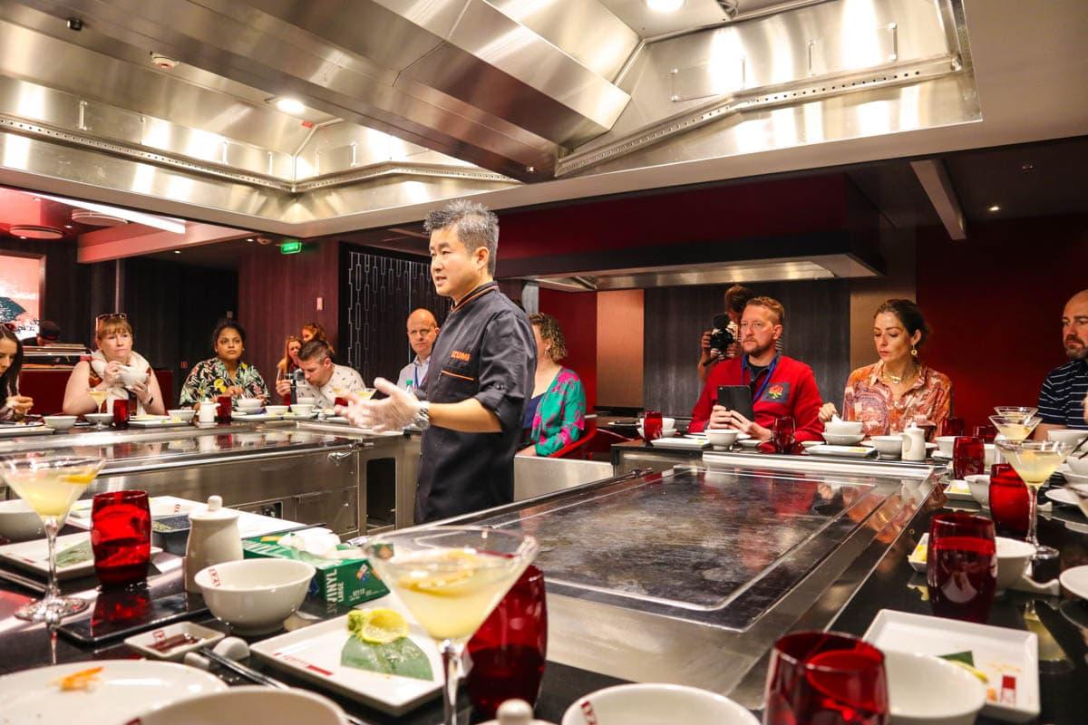 Sushi master class at Izumi, Royal Caribbean Independence Of The Seas