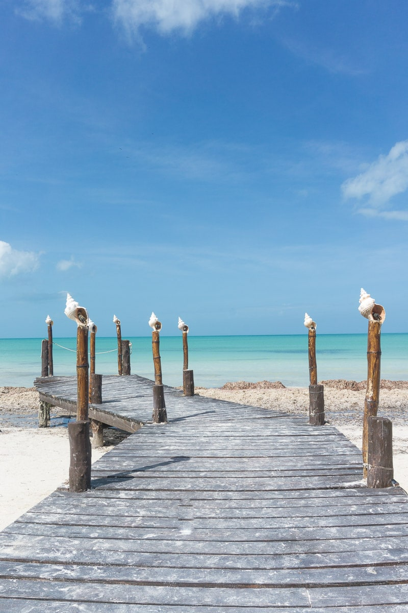 Pretty views on Isla Holbox, Mexico
