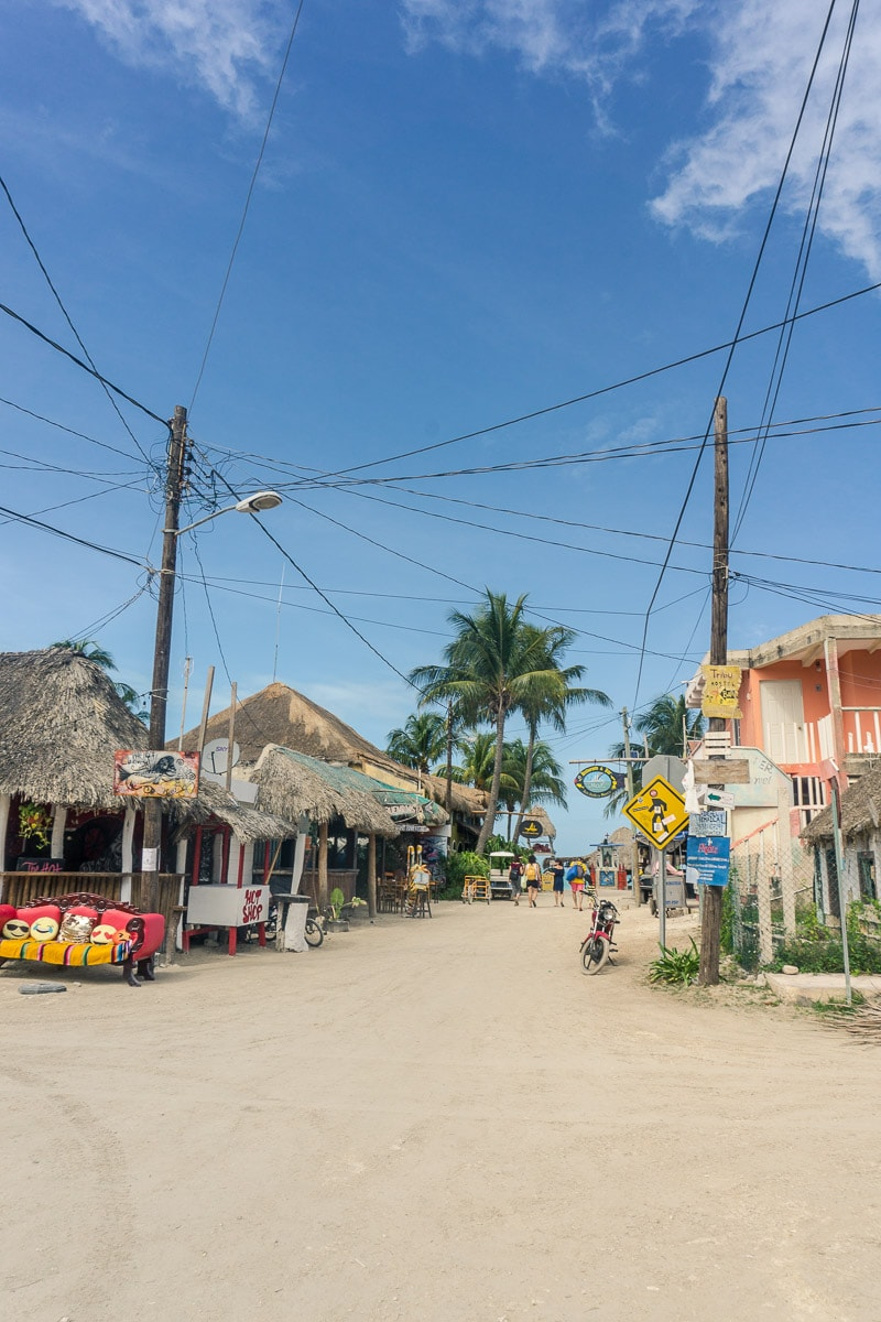 Cute streets on Isla Holbox, Mexico