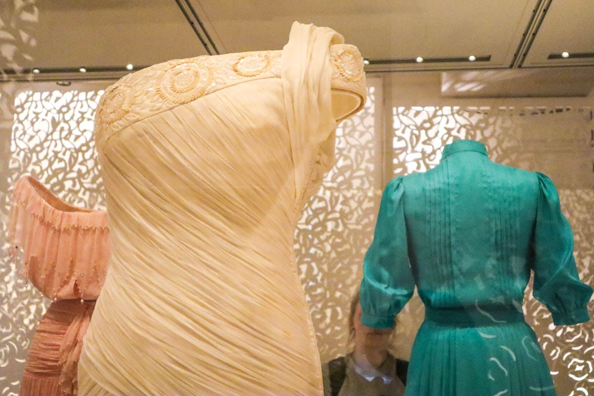 Princess Diana's dresses on display at Kensington Palace, London