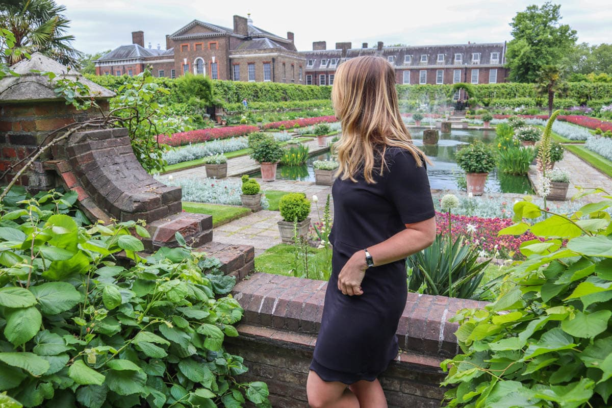 Exploring the Sunken Gardens at Kensington Palace Gardens, London
