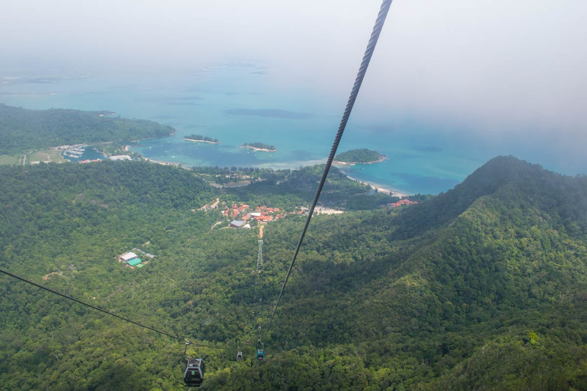 Looking down from the Langkawi SkyCab Cable Car