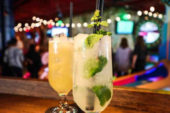 Cocktails at Puttshack, Westfield, Shepherd's Bush