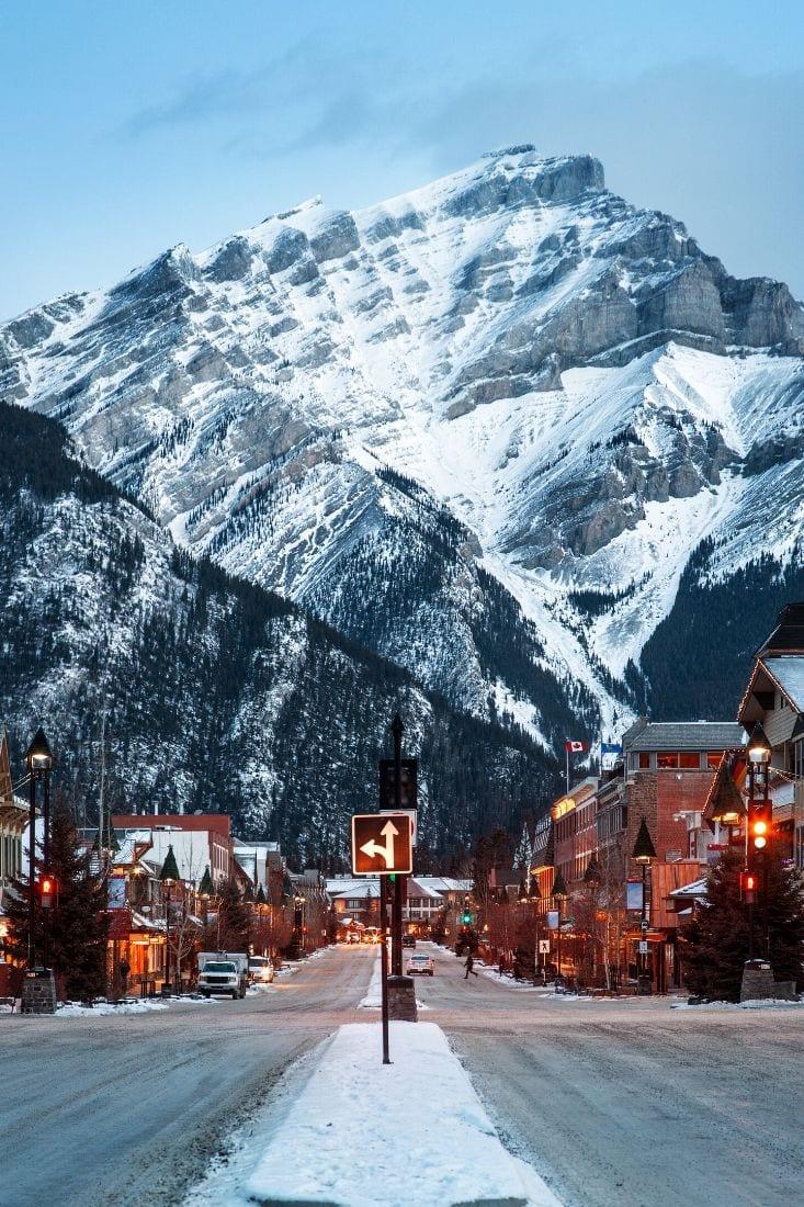 Winter in Banff, Alberta