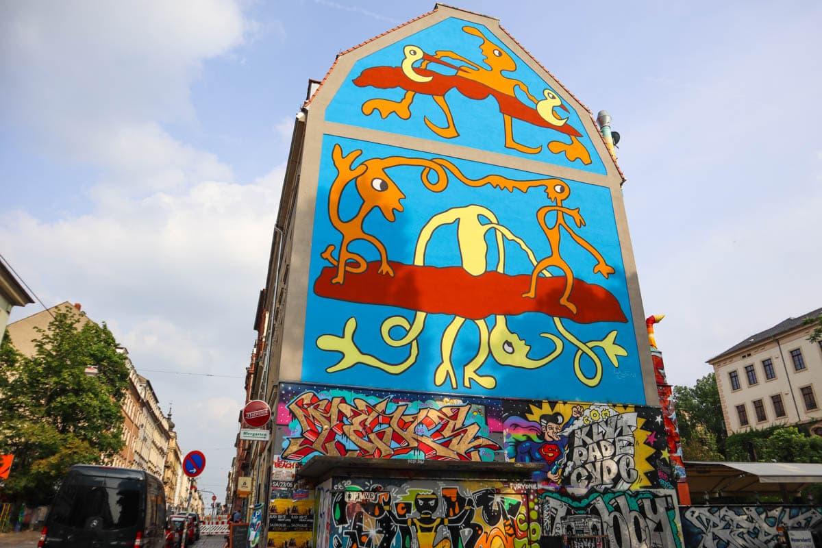 Murals in Neustadt, Dresden