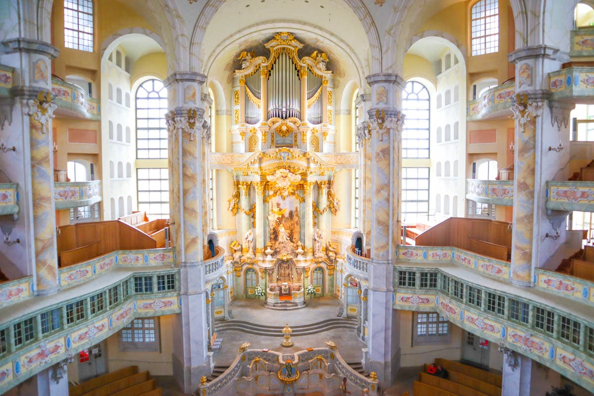 Interior of Dresden Frauenkirche