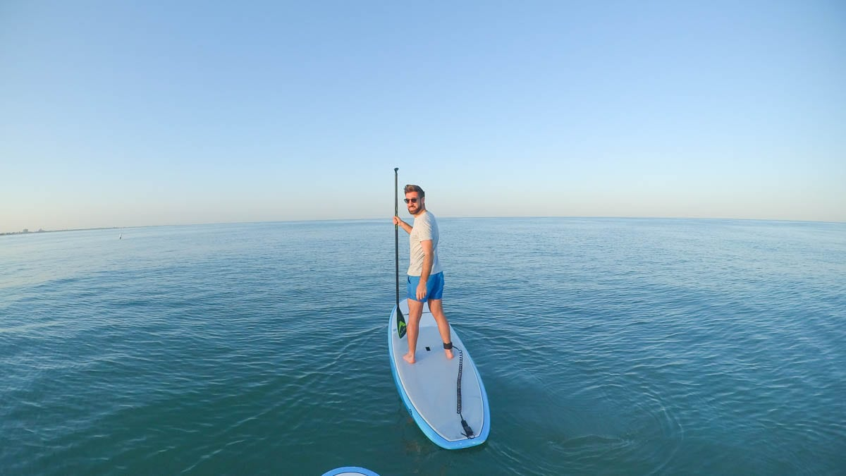Paddle boarding in Florida (KeyMission 170)
