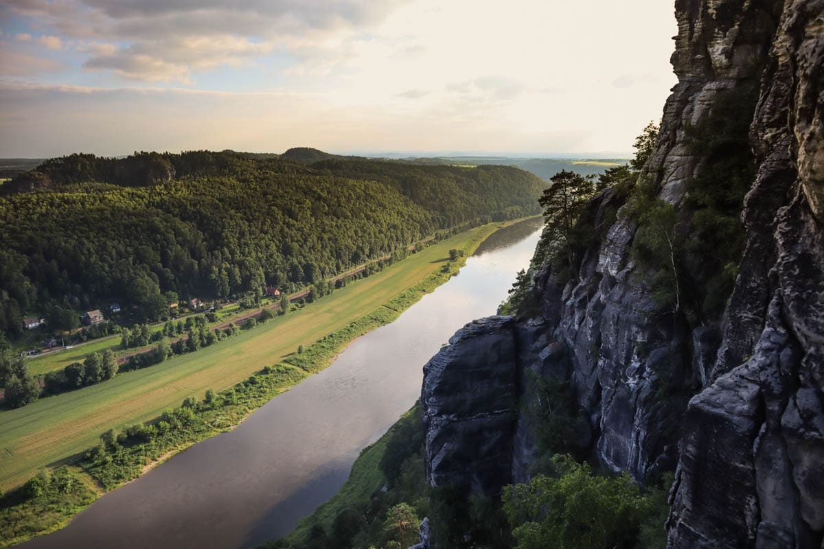 View from Bastei Bridge, Saxon Switzerland, Germany