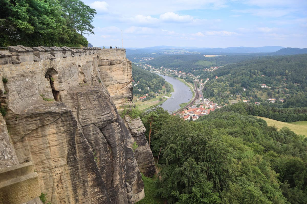 View from Königstein Fortress, Saxon Switzerland