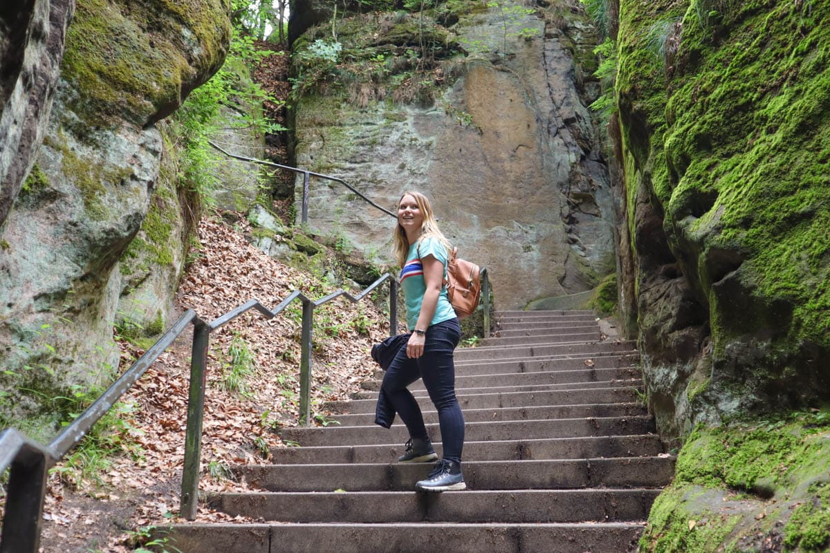 Hiking through Saxon Switzerland, Germany