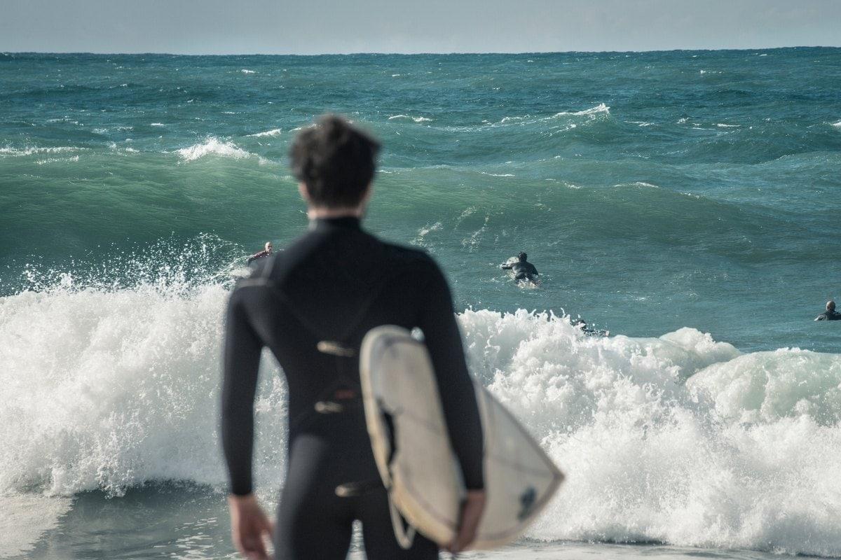 Surfers in Hossegor, France