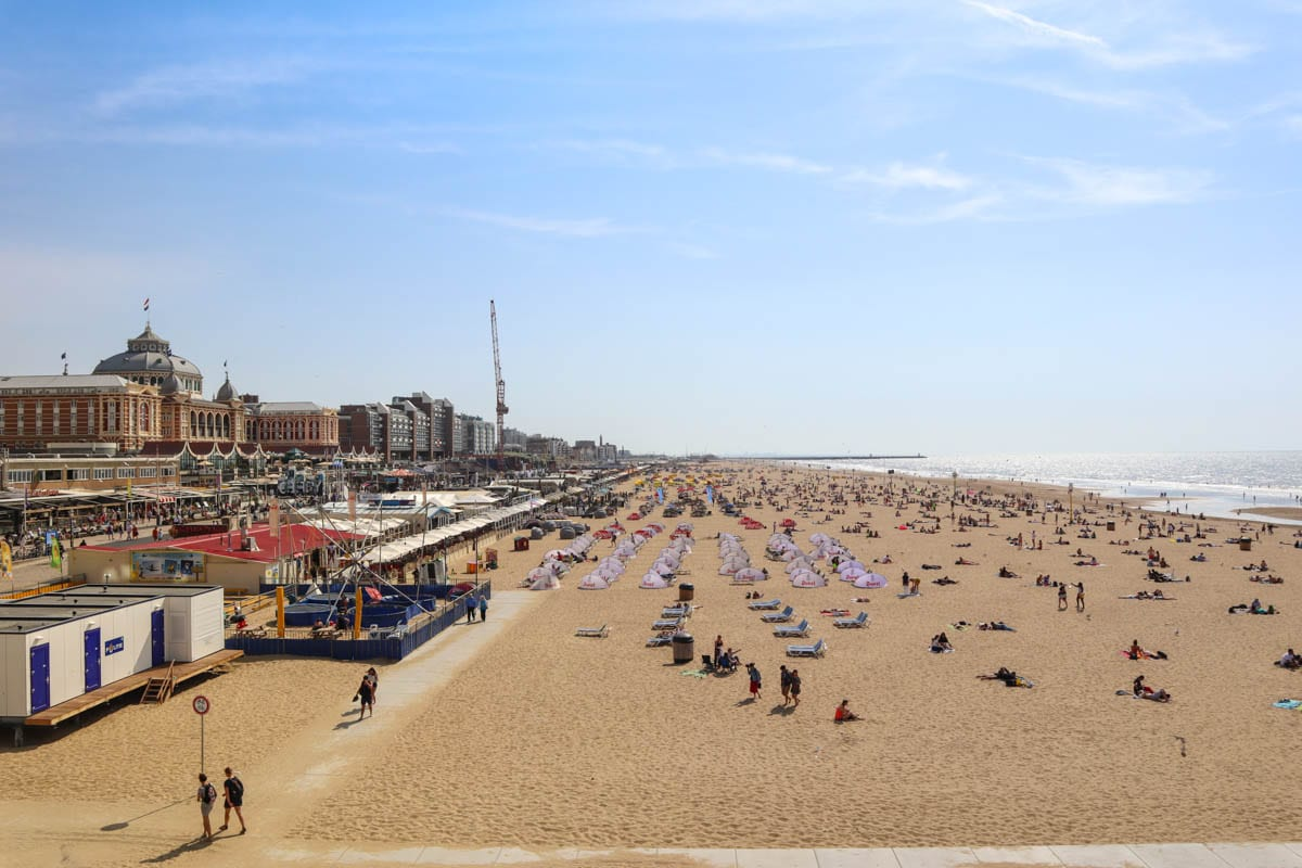 One of the top things to do in The Hague - visit Scheveningen Beach
