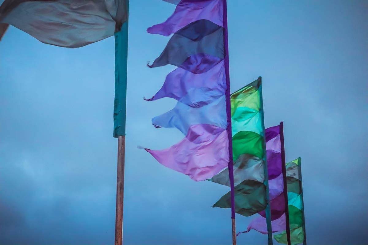 Festival flags at Boardmasters 2018