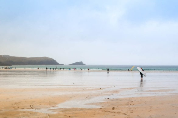 Surf time on Fistral Beach, Boardmasters 2018