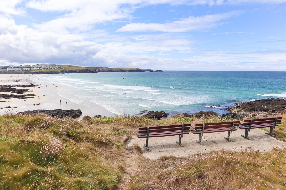 Overlooking Fistral Beach, Cornwall