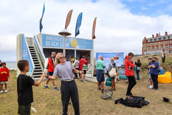 Performances at the Visit St. Pete/Clearwater stand at Boardmasters 2018