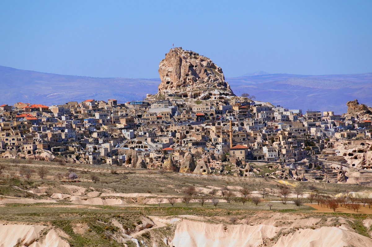 One of the top things to do in Cappadocia is to visit Uchisar Castle