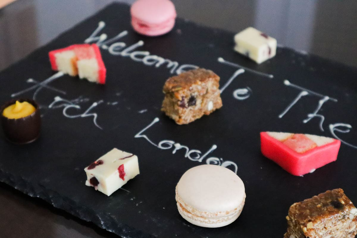 Petits fours at The Arch London