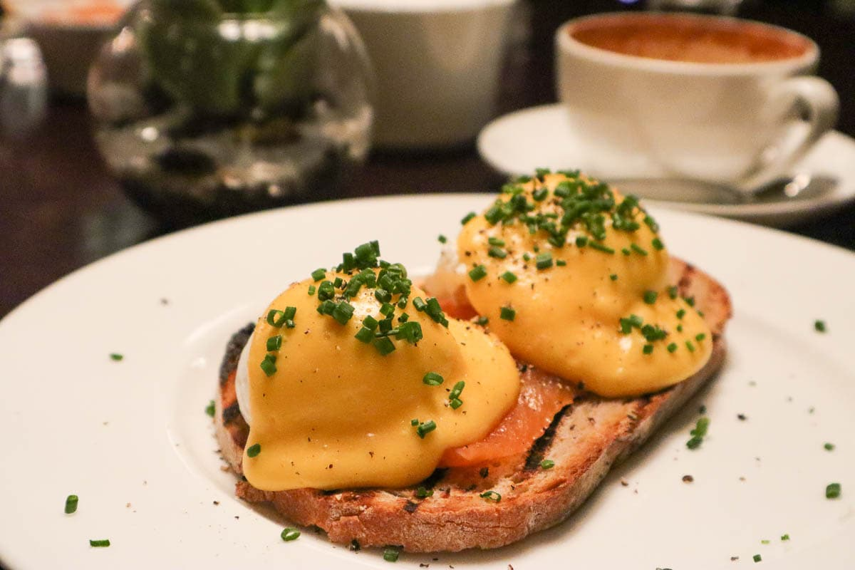 Eggs royale at The Arch London