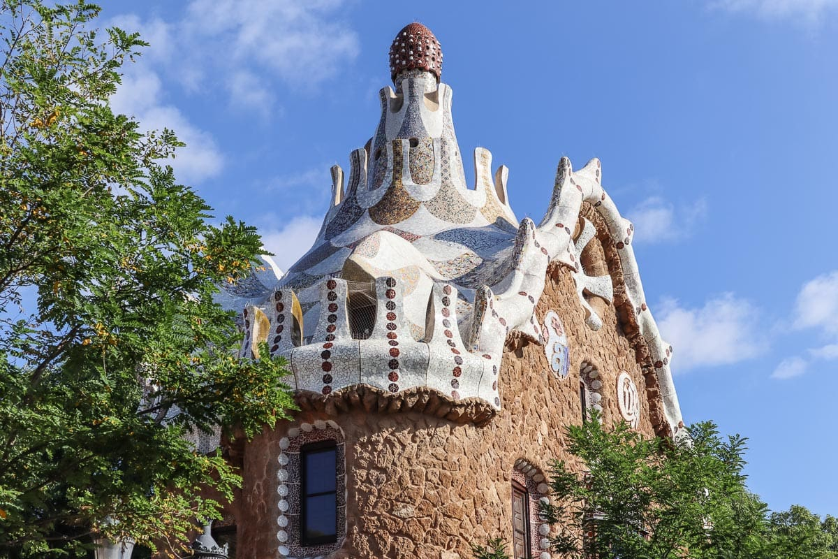 Hansel and Gretel house at Parc Guell, Barcelona