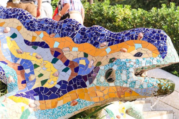 Mosaic dragon at Parc Guell, Barcelona