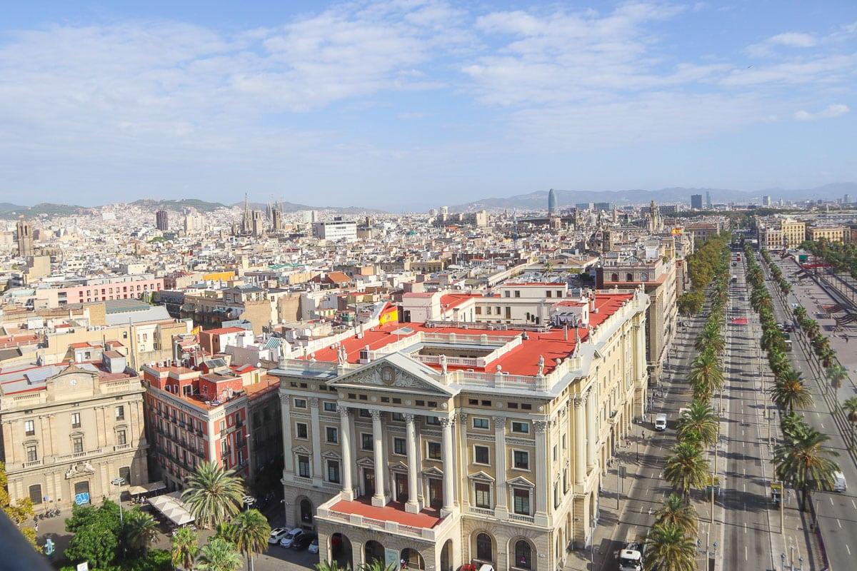 View from Mirador de Colom, Barcelona