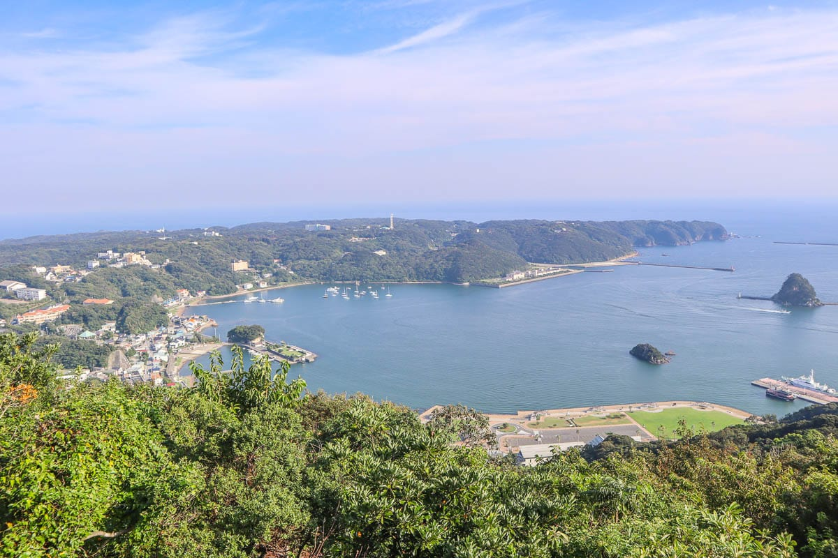 View from the top of Shimoda Ropeway, Japan