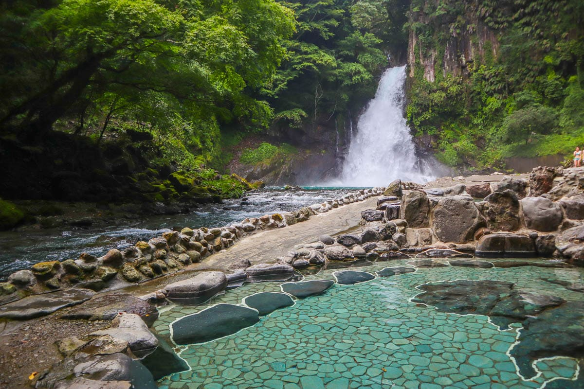 Hot springs at the end of Kawazu Seven Falls, Izu Peninsula, Japan
