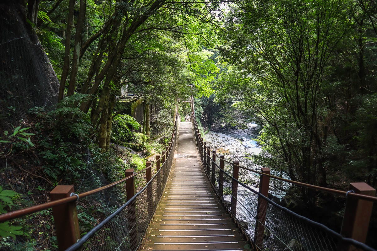 Trail along the Kawazu Seven Falls, Izu Peninsula, Japan