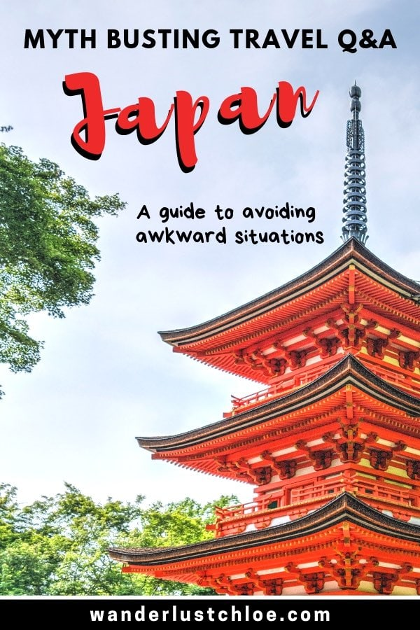 Japan myth busting Q&A - A guide to avoiding awkward situations